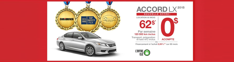 Promotions Honda Accord Berline Montréal